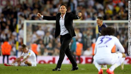 The then Derby County manager Frank Lampard masterminded the 2019 playoff win that saw Leeds remain in the Championship.