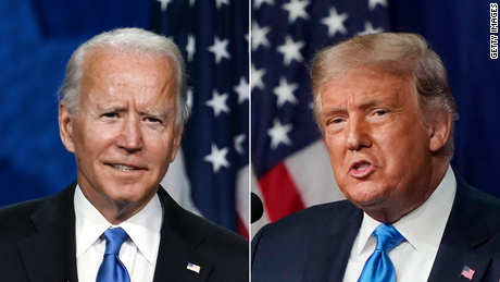 Trump made the misleading claim that China is protesting to help Biden win the election