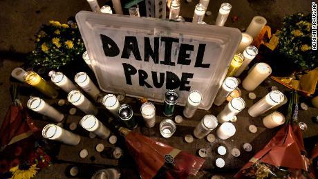 A makeshift memorial is seen Wednesday in Rochester, New York.