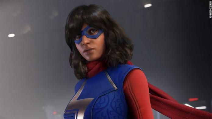 """Kamala Khan, better known as Ms. Marvel, makes her video game debut in """"Marvel's Avengers"""" after previously appearing in the comics."""