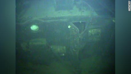 Image of debris taken from a remote powered vehicle (ROV).