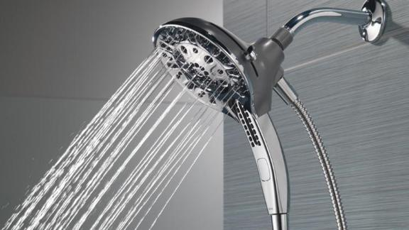 Delta In2ition 2-in-1 5-Spray 6-Inch Dual Wall-Mount Fixed and Handheld Shower Head