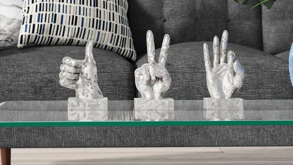 3-Piece Sign Sculpture Figurine Set