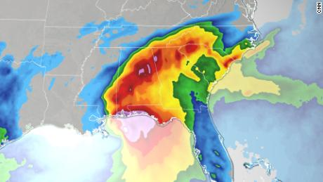 Two of Sally's biggest threats are inland floods and hurricanes
