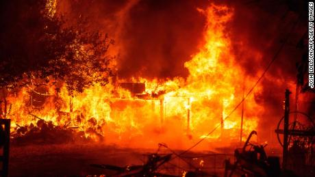 The couple who died in the California fire were ready to evacuate but were later reconsidered;  Incorrect information & # 39;