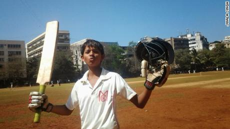 A young Jaiswal celebrates another fine innings