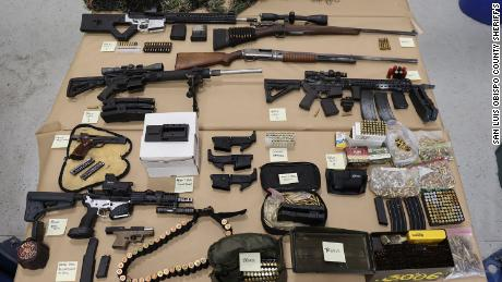 California deputies found multiple weapons and ammunition in Christopher Straub's vehicle after he was killed in a shootout with deputies.