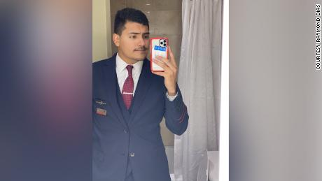 One of the last photos Raymond Dias has of himself in uniform.