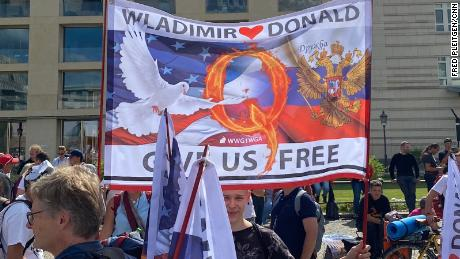 The Berlin rally at the end of August was notable for the number of far-right groups and for its adulation of President Trump.