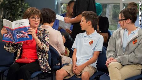 """In the second season of """"One Day At A Time,"""" Lydia (played by Rita Moreno) prepares for a citizenship test."""