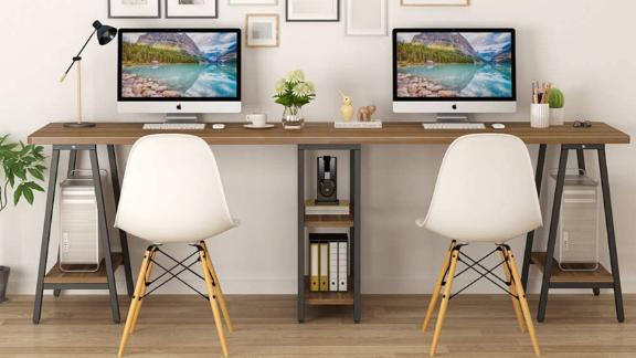 Tribesigns Extra-Long 2-Person Desk