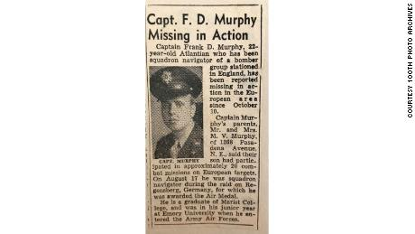 Atlanta Journal Constitution article from early November 1943 after Frank Murphy and his crew were shot down