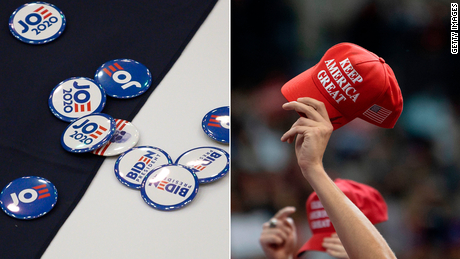 Campaign swag from both sides