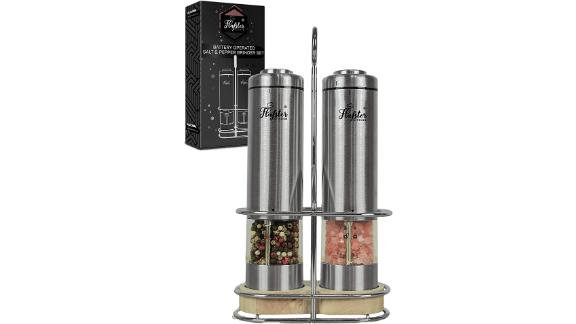 Flafster Kitchen Electric Salt and Pepper Grinder Set