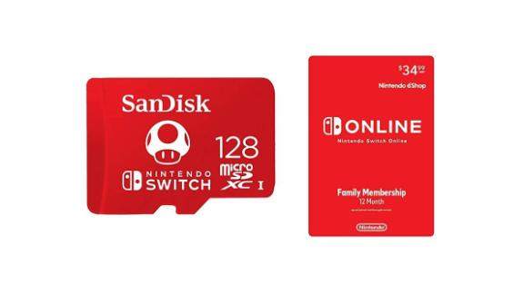 SanDisk 128GB MicroSD Card With 12 Months of Nintendo Switch Online