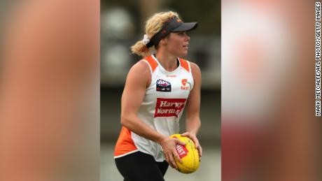 Barclay มีให้เห็นในระหว่างการฝึกซ้อมของ Greater Western Sydney Giants AFLW ในเดือนธันวาคม 2019