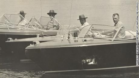Wardens from Georgia's Department of Natural Resources on Lake Lanier in 1961.
