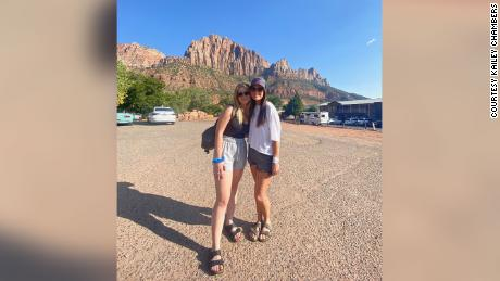 Chambers and Courtier visited Zion National Park together a month ago. Then Courtier embarked on a solo trip.