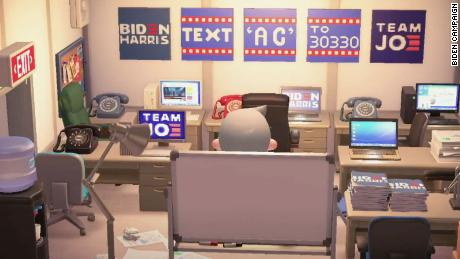 """A field office on Biden HQ, Joe Biden's island on """"Animal Crossing."""""""