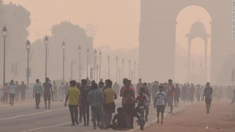India's pollution season could serve a double blow during Covid-19