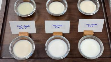 Impossible is working on a plant-based milk for people who hate plant-based milks