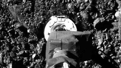 New images show historical landings and sample collections on NASA's spacecraft asteroid