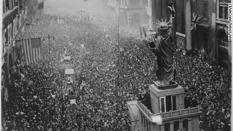 The announcing of the armistice on November 11, 1918, was the occasion for a grand celebration in Philadelphia. Thousands of attendees were infected with influenza.