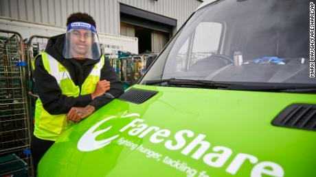 Along with the charity FareShare, Rashford has helped raise money during the pandemic.