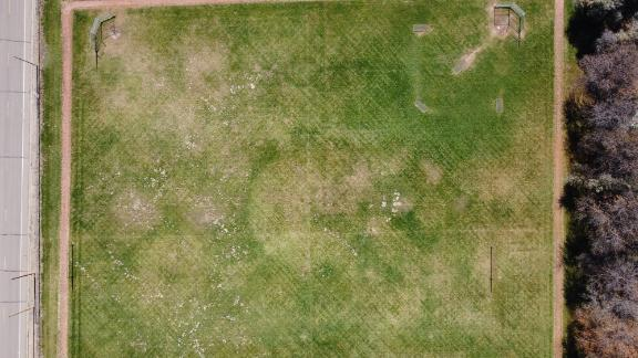 Photo of a field taken with the DJI Mavic Mini 2