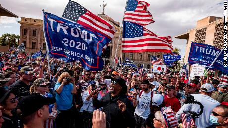 'Trump can still win': The President's supporters remain defiant after Biden's victory