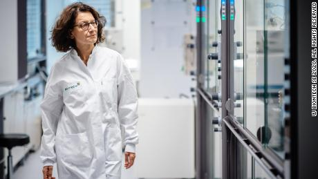 BioNTech chief medical officer, Ozlem Tureci at the lab in November.