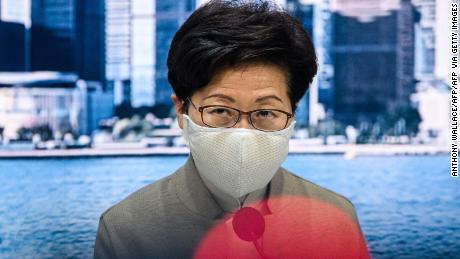 Chief Executive Carrie Lam speaks during a press conference at the government headquarters in Hong Kong on November 11, 2020.
