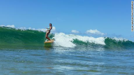 Lauren Hill first took up surfing when she was growing up in Florida.