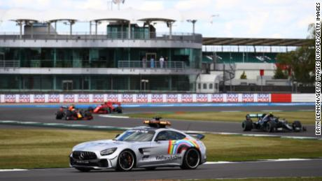 The FIA safety car used during Formula 1 events this year has been branded with the 'WeRaceAsOne' logo.