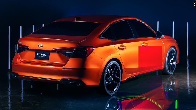 The new Honda Civic's taillights are designed to give an impression of more width.