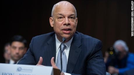 Jeh Johnson, former Homeland Security Secretary, testifies during a Senate Intelligence Committee hearing in Hart Building on Russian Interference in the 2016 election on March 21, 2018.