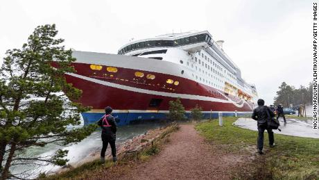 Finland ferry aground: More than 400 people stranded overnight - CNN