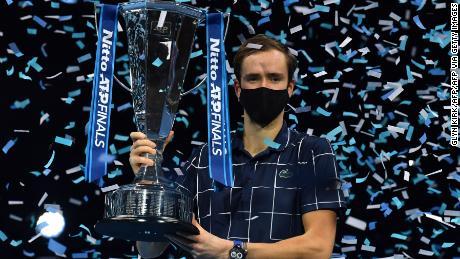 Daniil Medvedev beat Dominic Thiem to win the ATP Finals.