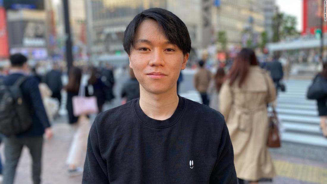 University student Koki Ozora started a 24-hour mental health hotline staffed by volunteers in March. They now get more than 200 calls a day.
