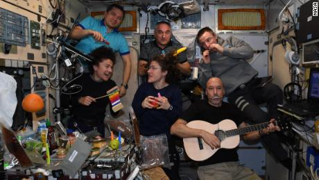 The crew formed a band to close mission control centers around the world.