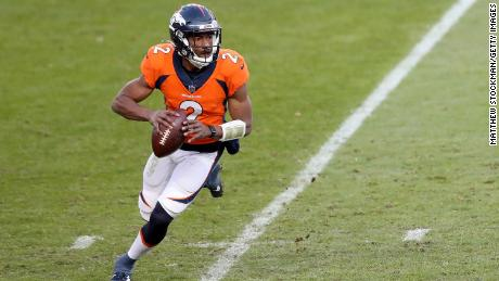 Kendall Hinton stepped in at the last minute for the Denver Broncos.