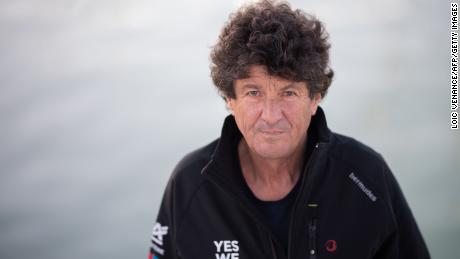 French skipper Jean Le Cam diverted from the race to rescue Kevin Escoffier.