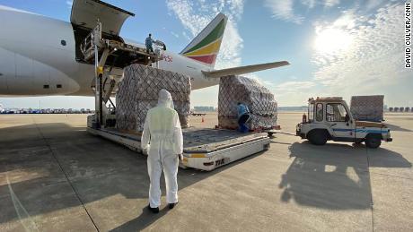Cainiao ได้ร่วมมือกับสายการบินเอธิโอเปียนในการจัดจำหน่ายวัคซีนป้องกันไวรัสโคโรนาของจีนในต่างประเทศ