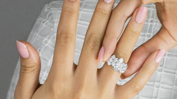 Waterfall Lab Diamond Ring
