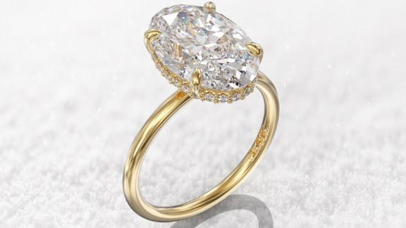 Gioielli Rings Hidden Halo Engagement Ring