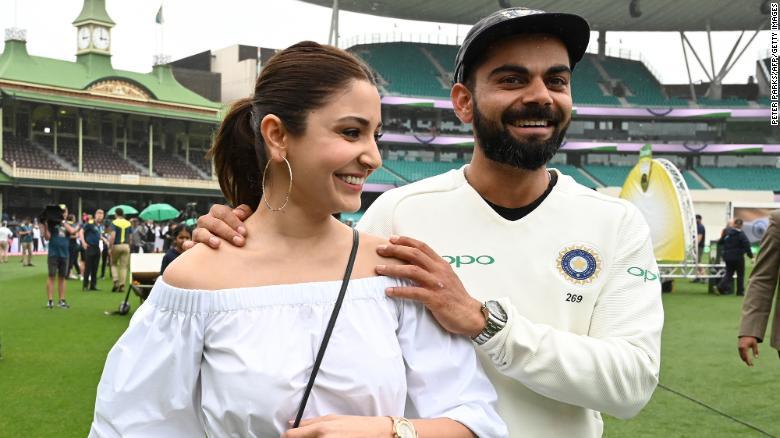 India's captain Virat Kohli and his wife, Anushka Sharma,  in Sydney on January 7, 2019.