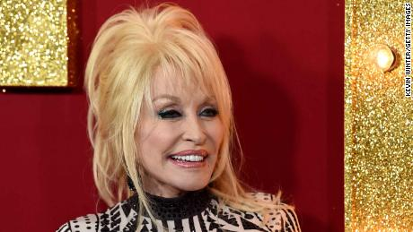 Dolly Parton has received her first dose of the Covid-19 vaccine