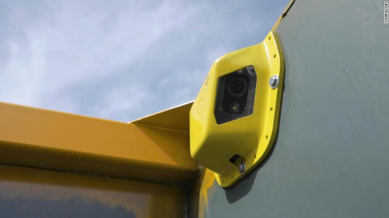 Compology places cameras and sensors in businesses' dumpsters to monitor what's thrown inside.