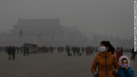Beijing, China's capital, is often shrouded in heavy smog in the winter.