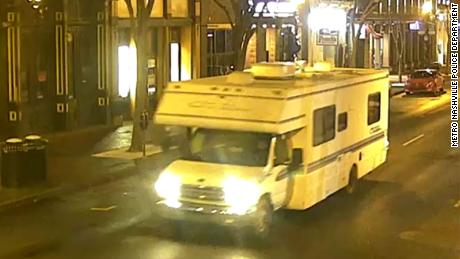 The Metro Nashville Police Department released a photo of the RV on Christmas morning at the start of the explosion.